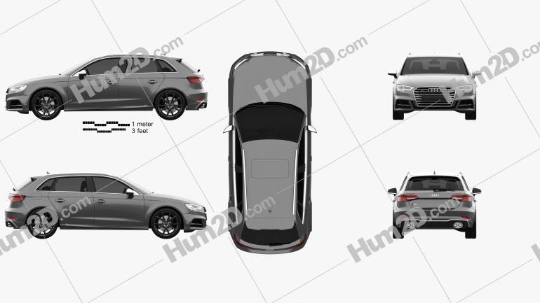 Audi S3 Sportback 2016 car clipart