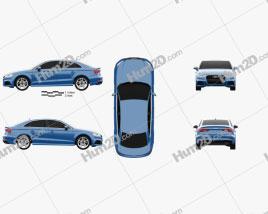 Audi A3 S-Line 2016 car clipart