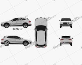 Audi Q5 2016 car clipart