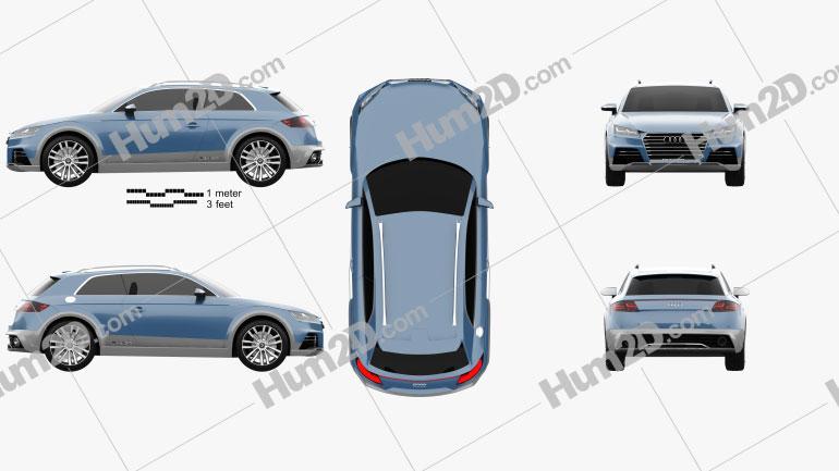 Audi Allroad Shooting Brake 2014 car clipart