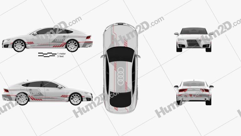 Audi A7 Sportback Piloted Driving Concept 2016 car clipart