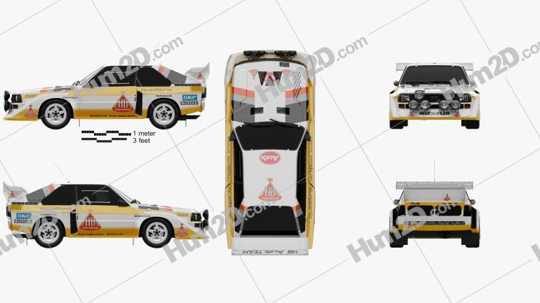 Audi Quattro Sport S1 E2 1985 Clipart Image
