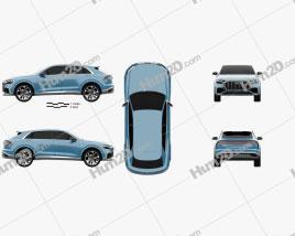 Audi Q8 concept 2017 car clipart