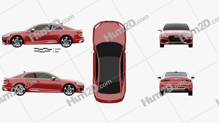 Audi RS5 Coupe 2017 car clipart