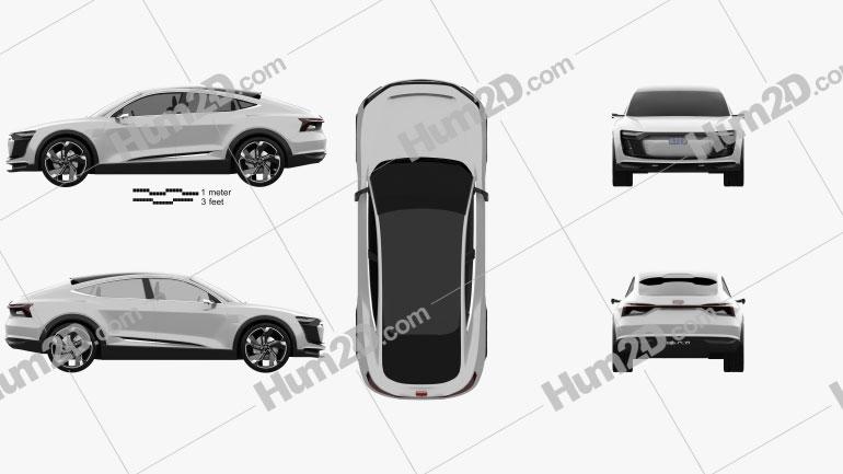 Audi E-tron Sportback 2017 car clipart