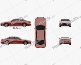 Audi A8 (D5) 2018 Clipart