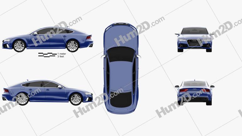 Audi RS7 (4G) Sportback Performance 2015 car clipart
