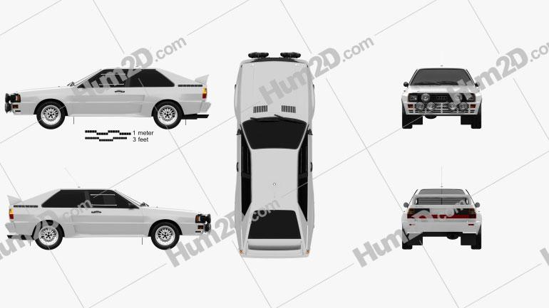 Audi Quattro A2 1981 Clipart Image