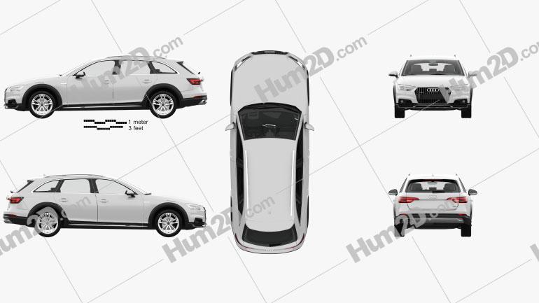 Audi A4 (B9) Allroad com interior HQ 2017 car clipart