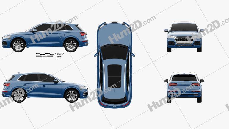Audi SQ5 2017 Clipart Bild