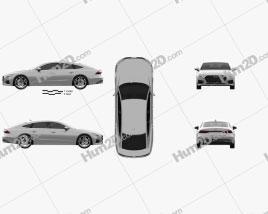Audi A7 Sportback 2018 car clipart