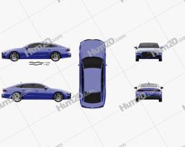 Audi A7 Sportback S-line 2018 Clipart