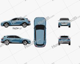 Audi e-tron 2019 car clipart
