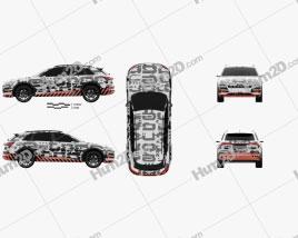 Audi e-tron Prototype 2018 car clipart