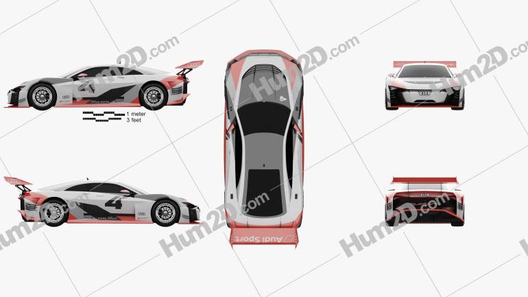 Audi e-tron Vision Gran Turismo 2018 car clipart