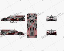 Audi R18 e-tron Quattro 2016 car clipart