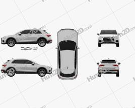 Audi Q3 Advanced 2018 car clipart