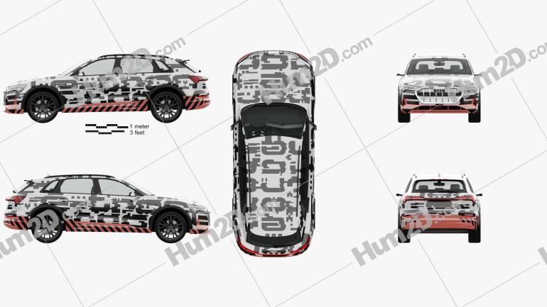 Audi e-tron Prototype with HQ interior 2018 car clipart