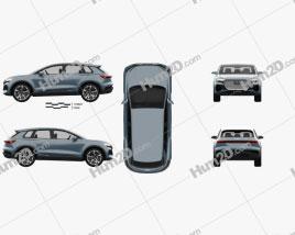 Audi Q4 e-tron 2019 car clipart