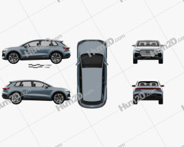 Audi Q4 e-tron 2019 Clipart