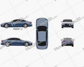 Audi S6 sedan 2019 car clipart