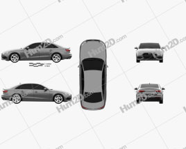 Audi A4 sedan 2019 Clipart