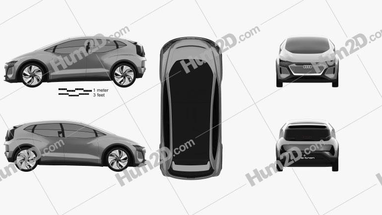 Audi AI:ME 2019 car clipart