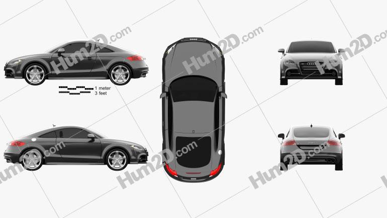 Audi TTS coupe 2010 car clipart