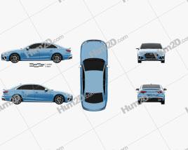 Audi S4 sedan 2019 car clipart