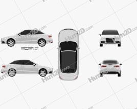 Audi A3 Cabriolet S-line 2014 car clipart