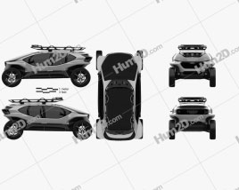 Audi AI:TRAIL quattro 2019 Clipart