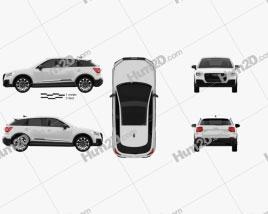 Audi SQ2 2019 Clipart