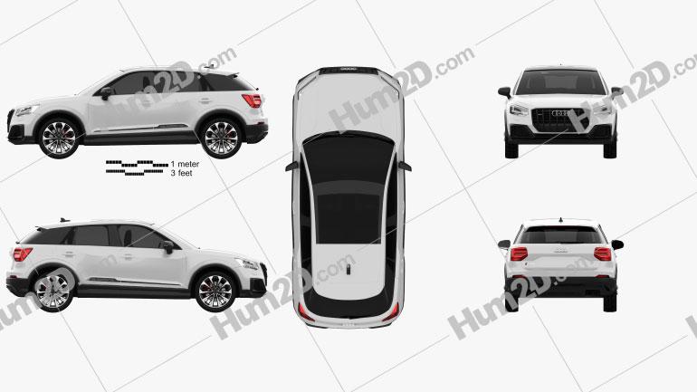 Audi SQ2 2019 car clipart