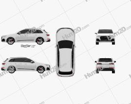 Audi Q7 S-line 2019 car clipart