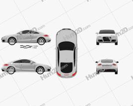 Audi TT coupe 2010 Clipart