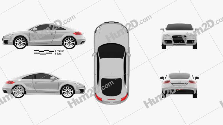 Audi TT coupe 2010 Clipart Image