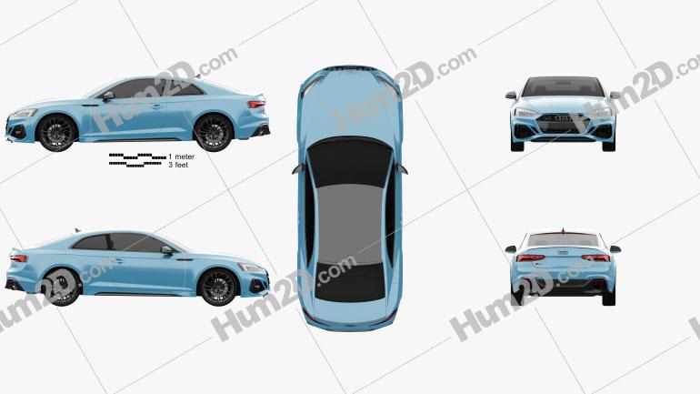 Audi RS5 coupe 2019 car clipart