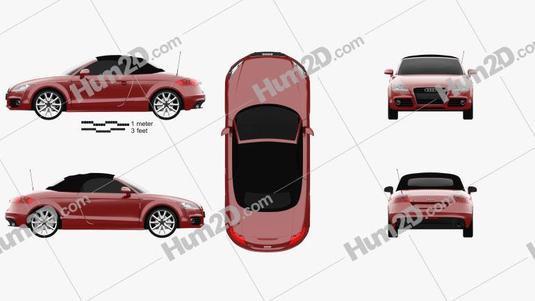 Audi TT roadster 2010 car clipart