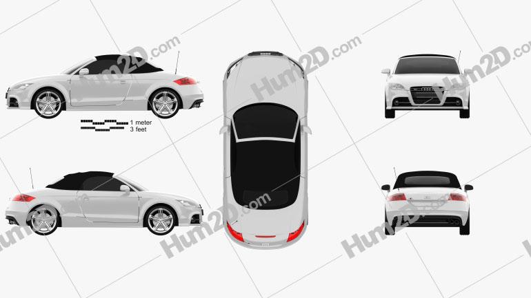 Audi TTS roadster 2010 car clipart