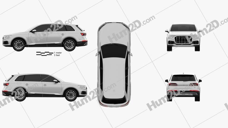 Audi Q7 2019 car clipart