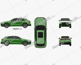Audi Q8 RS 2020 car clipart