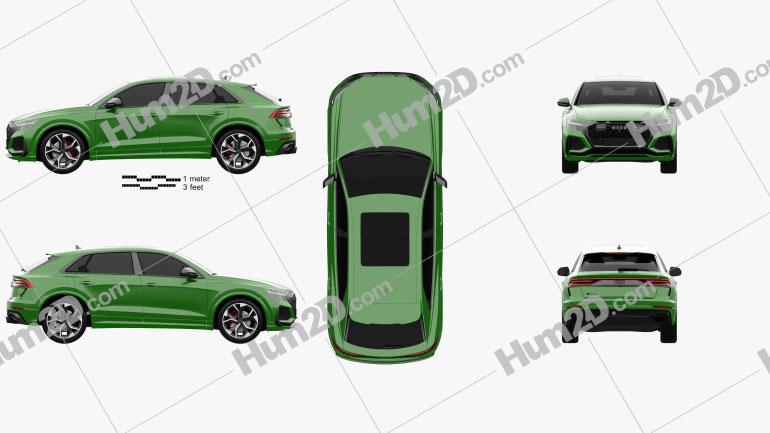Audi Q8 RS 2020 Clipart Image