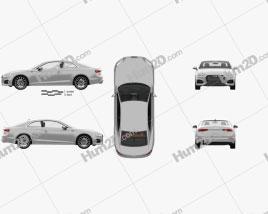 Audi A5 coupe mit HD Innenraum 2016 car clipart