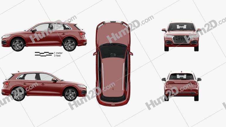 Audi Q5 S-line with HQ interior 2016 car clipart