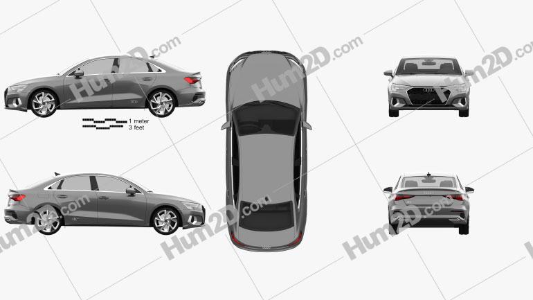 Audi A3 sedan 2020 Imagem Clipart