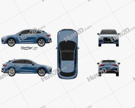 Audi Q3 Sportback S-line 2019 Clipart