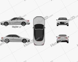 Audi A5 cabriolet 2019 car clipart