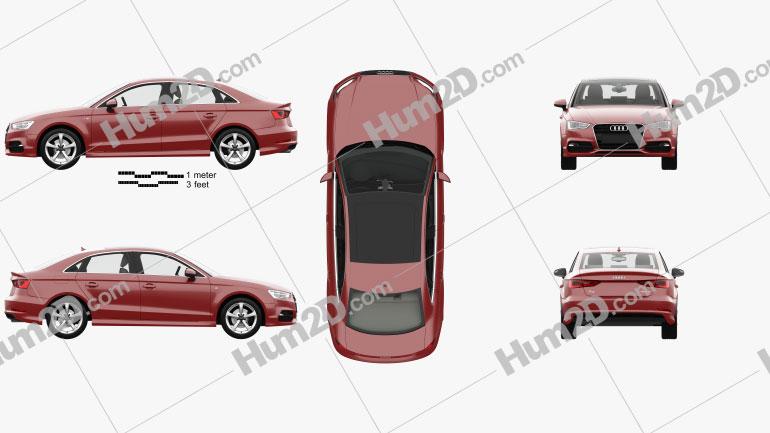 Audi A3 S-line Worldwide sedan com interior HQ 2013 car clipart