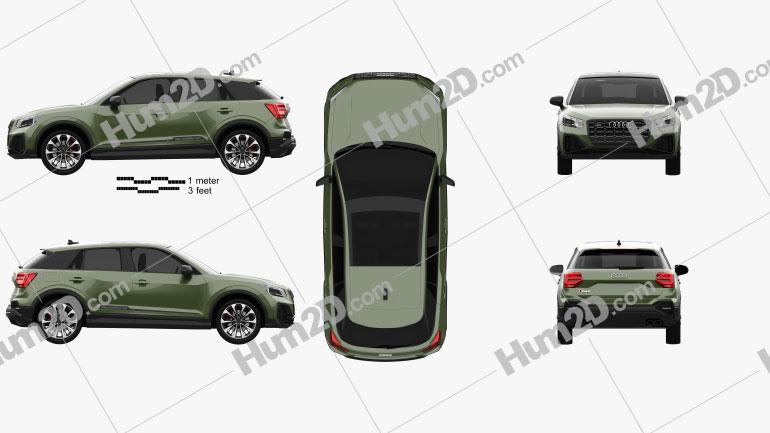 Audi SQ2 2020 car clipart