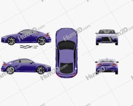 Audi TT RS coupe 2016 car clipart